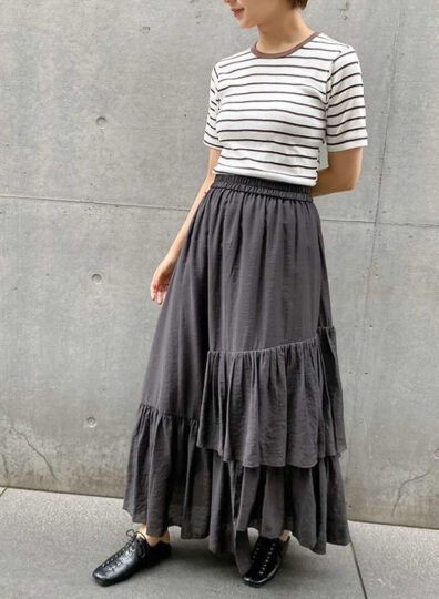 FIKA. casual tiered<br>159cm